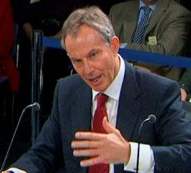 Tony Blair at the Iraq inquiry. (Reuters)