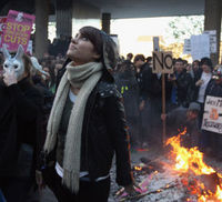 Students and lecturers expect more action after violent protests this week over tuition fees (Reuters).