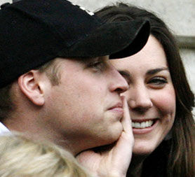 William and Kate Middleton who announced their engagement today.