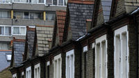 Terraced houses and flats. Housing Minister Grant Shapps has announced plans to limit social housing tenancy agreements to as little as two years (credit:Reuters).