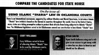 Sharia Law became an election issue in Oklahoma