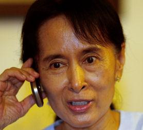 Burma's Aung San Suu Kyi has been reunited with her son