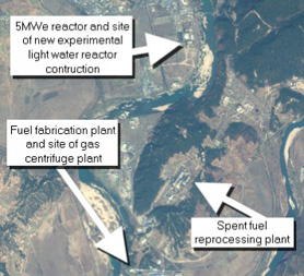 Satellite view of the Yongbyon nuclear development site in North Korea (credit: ISIS)
