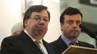 Irish Taoiseach Brian Cowen and Finance Minister Brian Lenihan