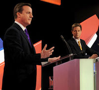 Cameron and Clegg clash over immigration at Sky News debate (Reuters)