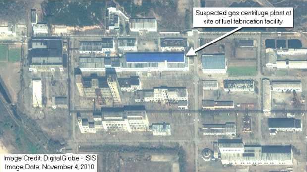 Satellite view of the Yongbyon reactor site (credit: ISIS)