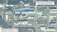 Satellite view of the Yongbyon reactor site in North Korea