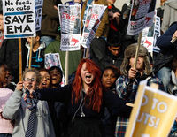 More student protests grip London and cities around the UK.