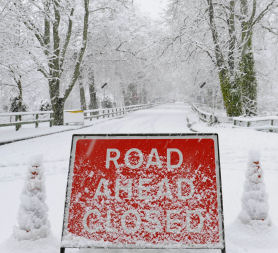 Snow has closed roads in the north east of Scotland (Reuters)