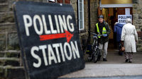 A UK polling station. Labour MPs are split over which campaign they will support in the Alternative Vote referendum next May (credit:Getty Images)