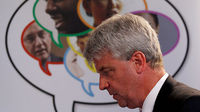 Health Secretary Andrew Lansley in east London (Reuters)