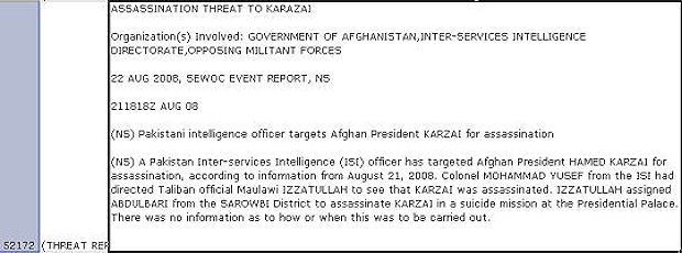 Revealed: details of an alleged Pakistani plot to assassinate President Hamid Karzai.