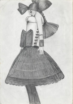 Ballerina by LS Lowry (Credit: The Lowry)