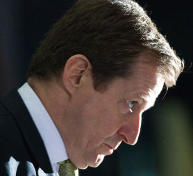 Alastair Campbell at the Iraq war inquiry. (Reuters)