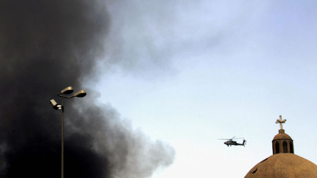 Iraq war files: Apache helicopter circles of Baghdad. (Getty)