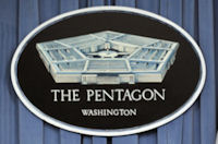 Pentagon crest. (Getty)