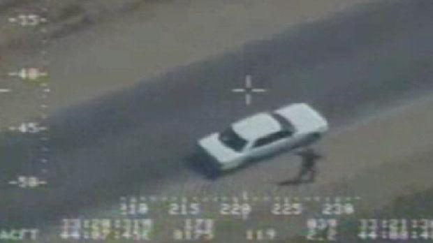 Iraq war files: video grab shows Iraqi trying to surrender.