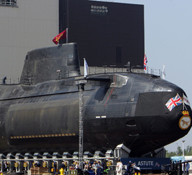 The cost of repairing the HMS Astute submarine could reach hundreds of millions of pounds (Getty).