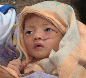 Indonesia tsunami: baby survivor (Reuters)