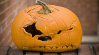 Squished jack-o-lantern. Britain is embracing Halloween (Credit:Getty Images)