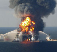 Fire at Deepwater Horizon (Reuters)