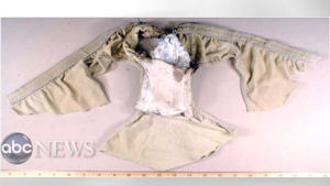 Syringe detonator from a pair of underwear with a packet of powder sewn into the crotch. (ABC News/Getty)