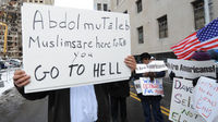 Protests against before the arraignment for Nigerian bombing suspect Umar Farouk Abdulmutallab. (Getty)