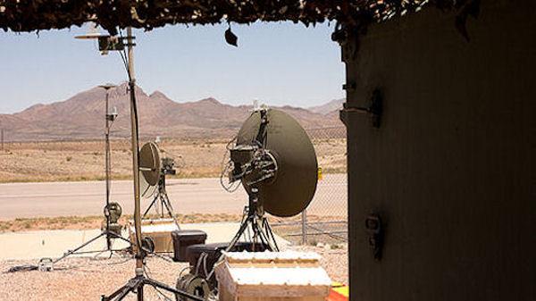 Drone base in the Arizona desert.