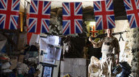 Afghanistan war: union flag files at a British army base. (Getty)