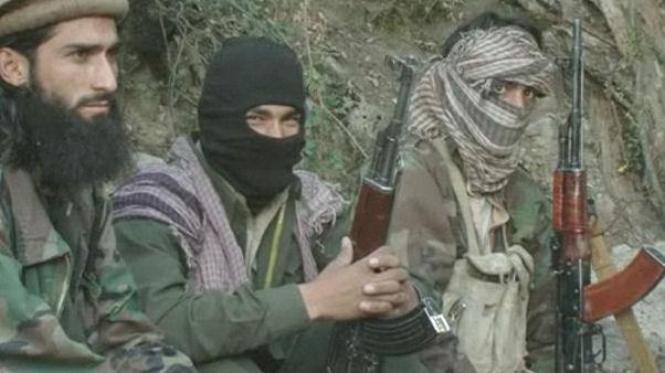 Afghan war: Taliban fighters.