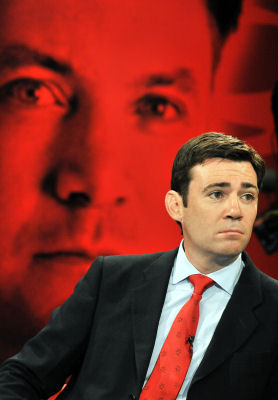 Labour leadership hopeful Andy Burnham.