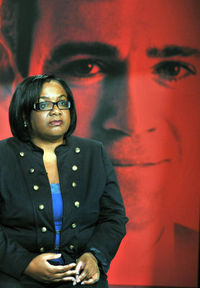 Labour leadership candidate Diane Abbott takes part in Channel 4 News hustings.