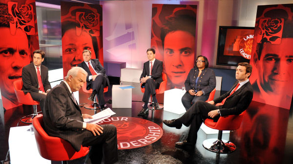 Labour leadership: the five contenders take part in hustings at Channel 4 News on 1 September 2010.