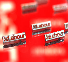 Labour leadership: Labour Party pin badges. (Getty)