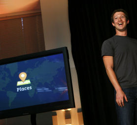 Mark Mark Zuckerberg launches Facebook Places (Getty)