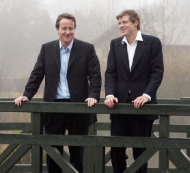 David Cameron with Zac Goldsmith before he became a parliamentary candidate - Reuters.