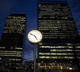 London's financial districts have experienced boom and bust, mirroring the UK economy (Reuters)