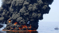 BP oil platform fire, Deepwater Horizon. (Reuters)