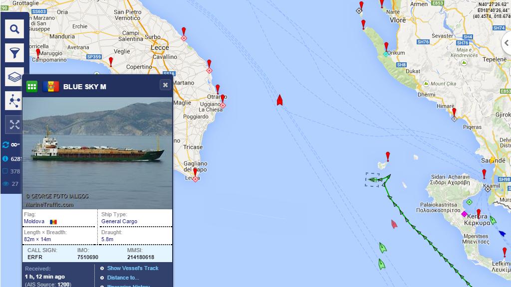Distress Call Ship Safe Headed To Italy