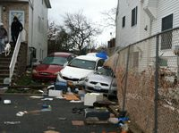 Damage along Father Cappodano in Staten Island