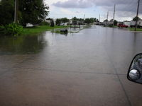 flooding in the meadows in thibodaux la