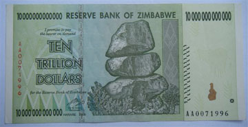 Zimbabwe Dispatches The Value Of Money