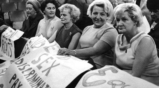 Dagenham Ford workers strike in 1968 (Getty)