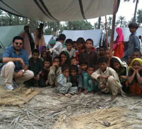 Doctor visits flood-hit Pakistan with £1m medical supplies