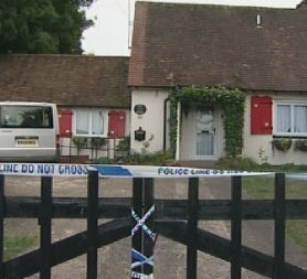 Wheathampstead house where the bodies were discovered on Saturday.