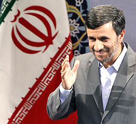 Iran's President Ahmadinejad. Oxford Research Group says  Israel has the potential to launch a wide-ranging attack on Iran (Image:  Getty)